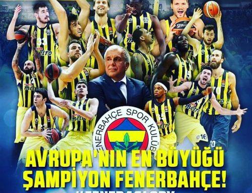 Fenerbahçe Basketbol takımı Avrupa şampiyonu oldu.